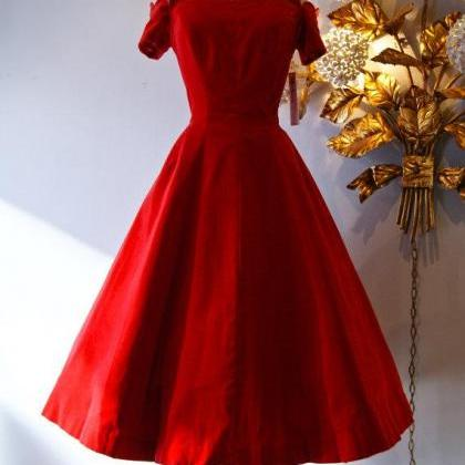 Retro 1950's Style Prom Dresses Red..