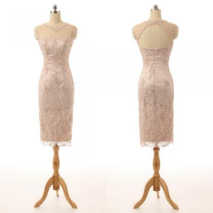 Champagne Mother of The Bride Dress..