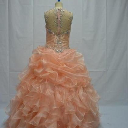 Organza Ball Gown Quinceanera Dres..