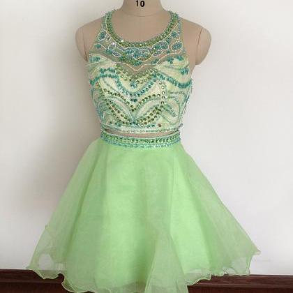 Two Pieces New Light Green Short Ho..