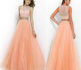 Peach Two Piece Long..