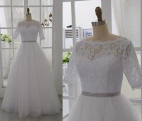 Short Sleeves Lace W..