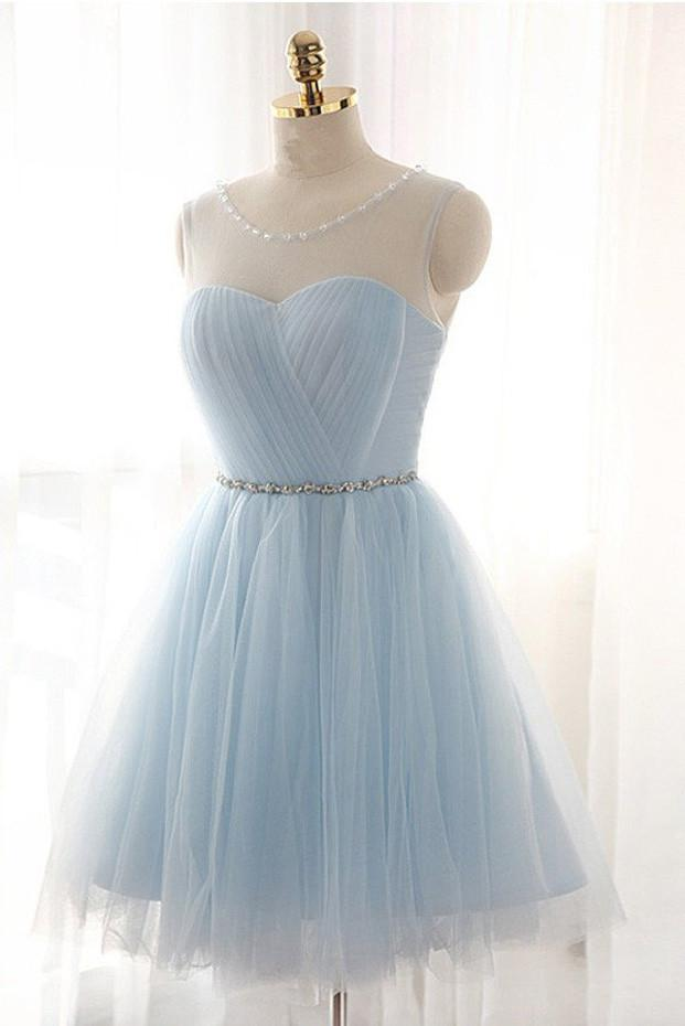 Charming Tulle Short Prom Dresses Cute Homecoming Dresses