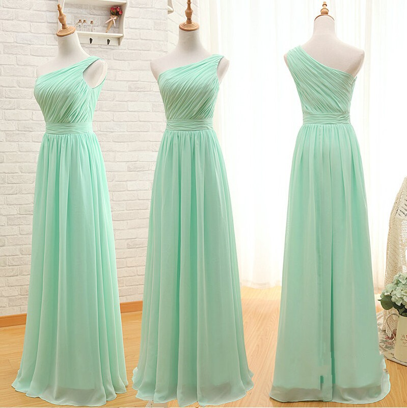 Custom made a line simple elegant cheap long mint green for Simple elegant wedding dresses cheap