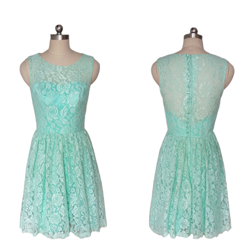 Teal Lace Cocktail Dress