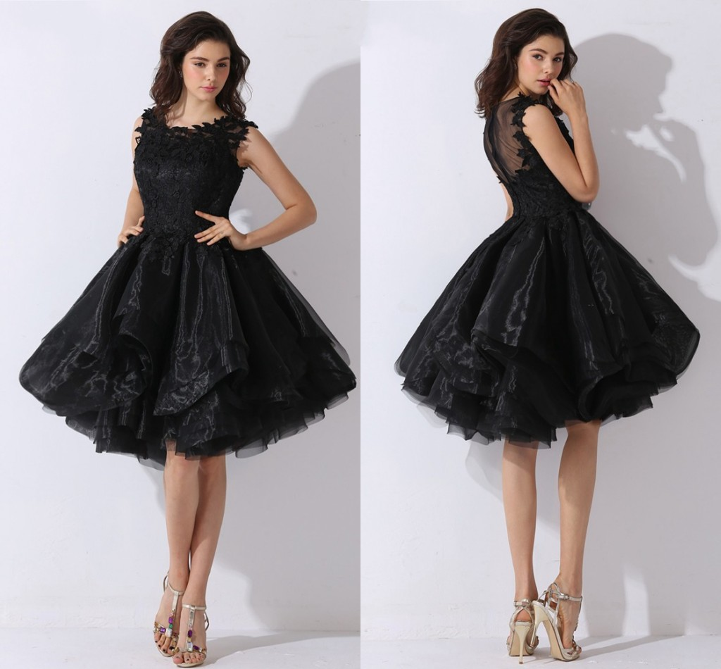 Black Short Wedding Dress