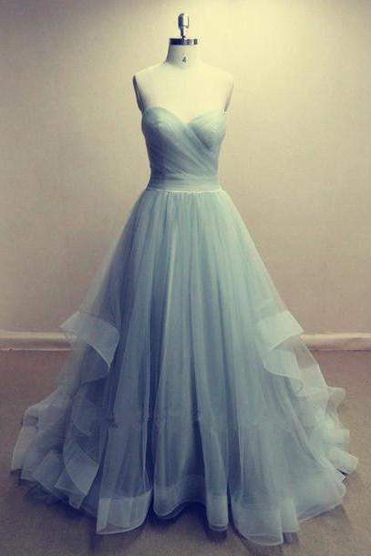 Charming Long Tulle Prom Dress Evening Gowns Party Dresses
