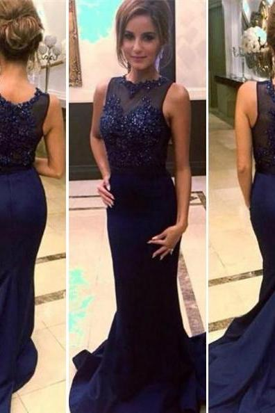 Charming Plus Size Long Mermaid Prom Dresses Beaded Sleeveless Formal Dresses Evening Party Gown