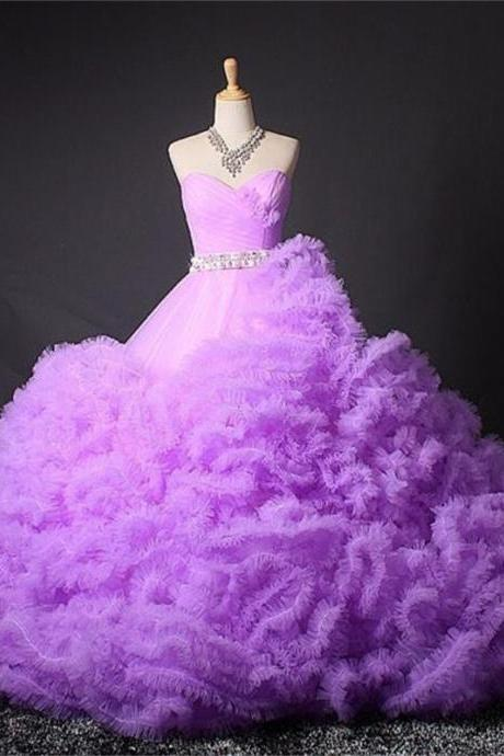 Colorful Winter Luxury Wedding Dress Plus Size Wedding Gown Ball Gowns Sweetheart Ruffles 2016 Cheap Bride Dreses Quinceanera Dress for Sweet 16