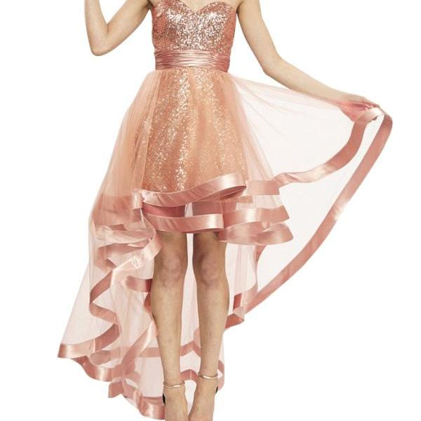 Sweetheart High Low Homecoming Dress Girls Dresses For Party