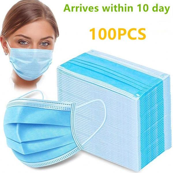 Disposable Face Masks Medical Anti Dust Breathable Disposable Earloop Mouth Face Mask Comfortable Medical Sanitary Surgical Masks