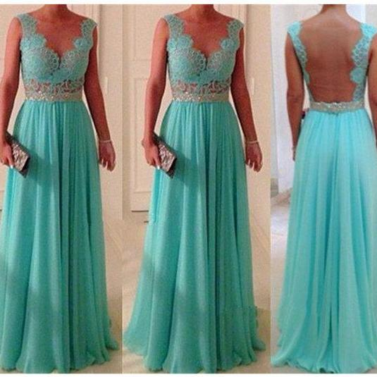 Custom Made A line Long Blue Lace Prom Dresses, Lace Bridesmaid Dresses, Blue Lace Dresses for Prom, Lace Graduation Dresses