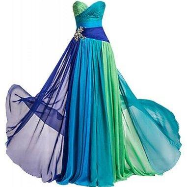 Strapless Rhinestone Chiffon Bridesmaid Evening Party Prom Dress dresses evening dresses